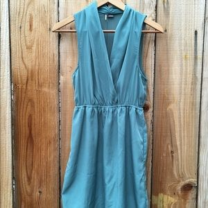 Sparkle & Fade Silky Teal Pocket Dress